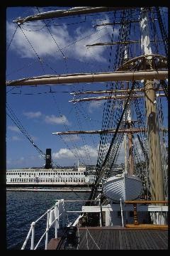 Sailing ship in San Diego